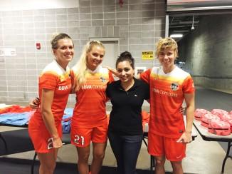 Stephanie Ochs, Melissa Henderson and Becca Moros